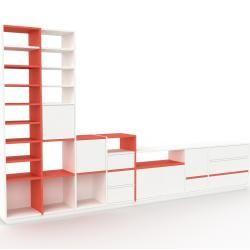 Photo of Regalsystem Weiß – Regalsystem: Schubladen in Weiß & Türen in Weiß – Hochwertige Materialien – 344 x