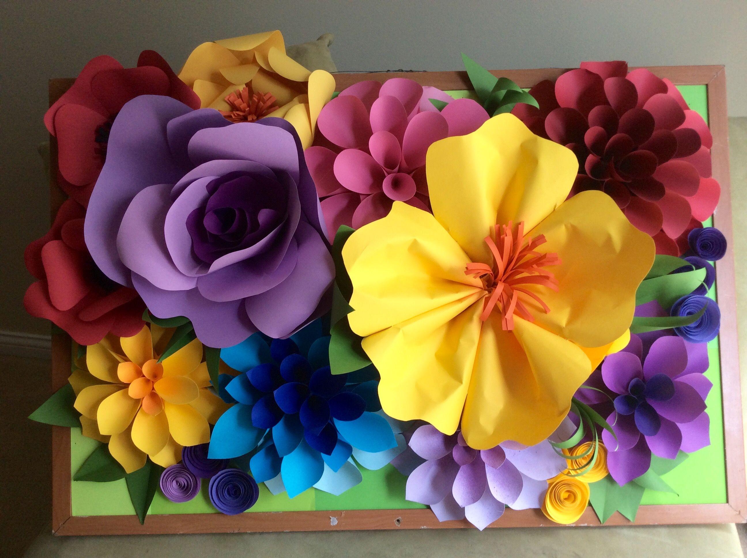 Funky Paper Flower Wall Art Crest - Art & Wall Decor - hecatalog.info