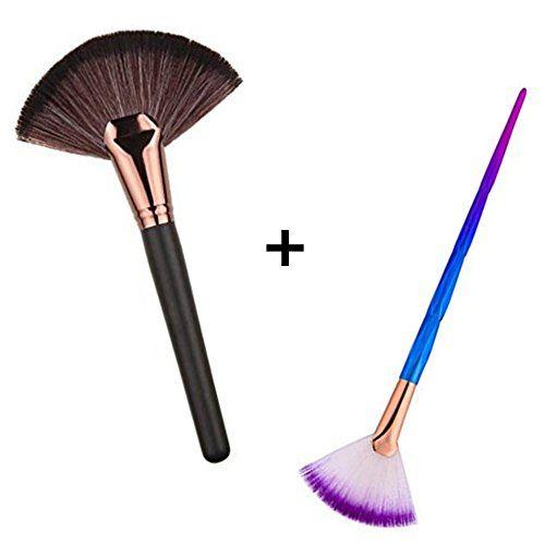 Huifen Large Fan Patern Makeup Brush Portable Slim Professional Apply Perfect For Highlight And Bronzer Cheekbones Fan Brush Makeup Makeup Tools Contour Brush