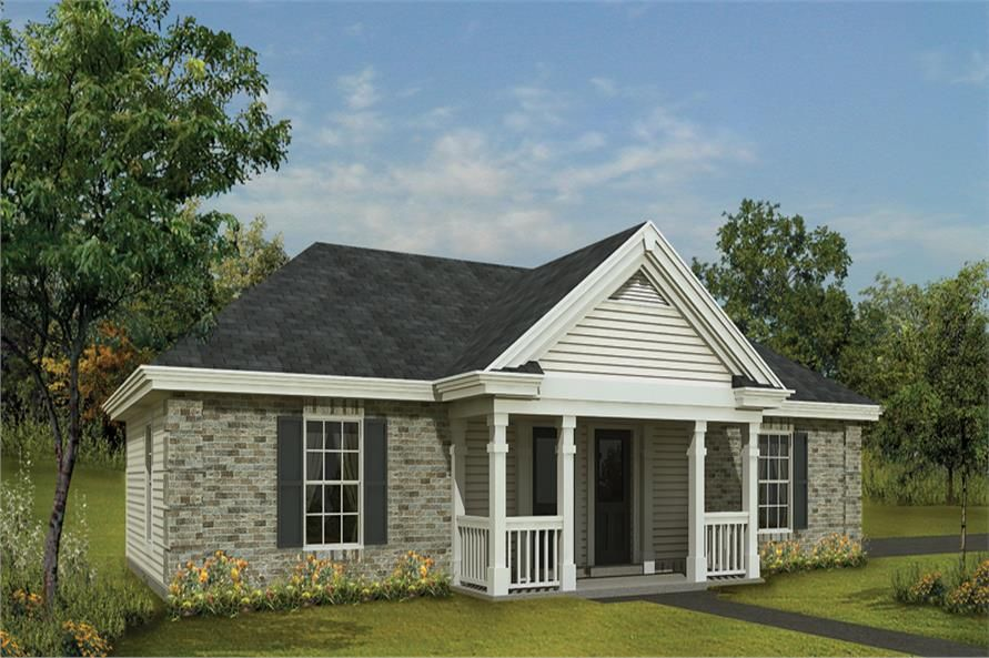 Front elevation of Small House Plans home