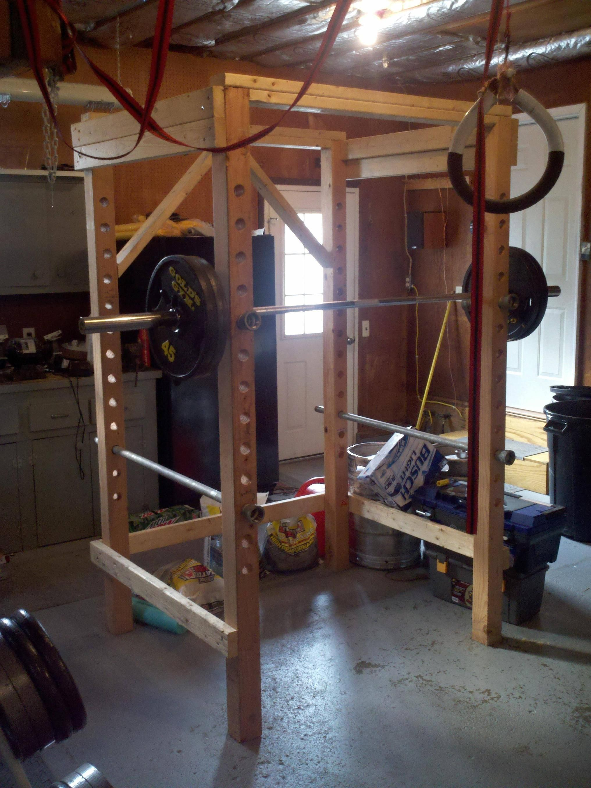 Diy power rack garage gym pinterest