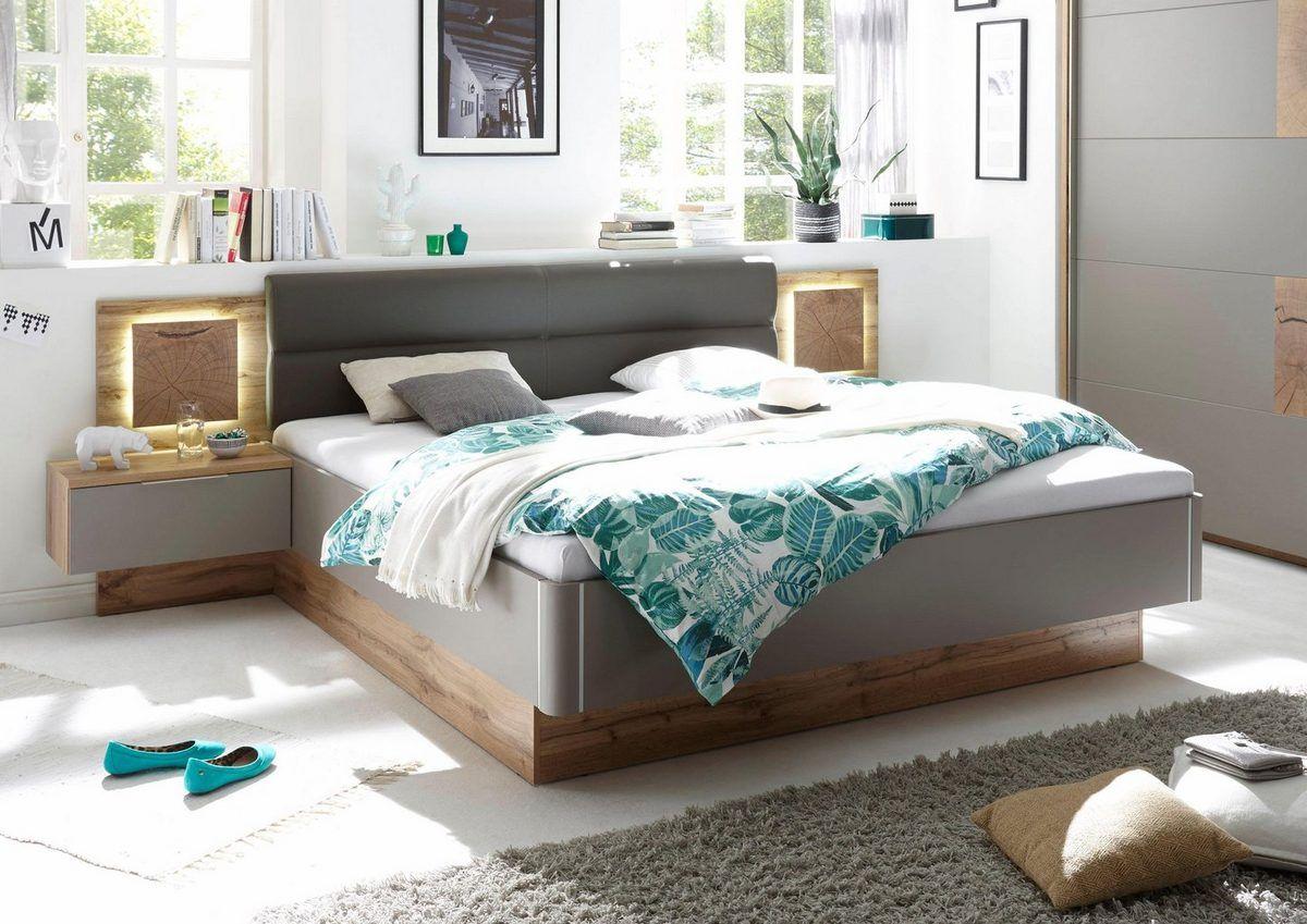 Bettanlage, (3tlg), Set aus Bett und 2 Nachttischen