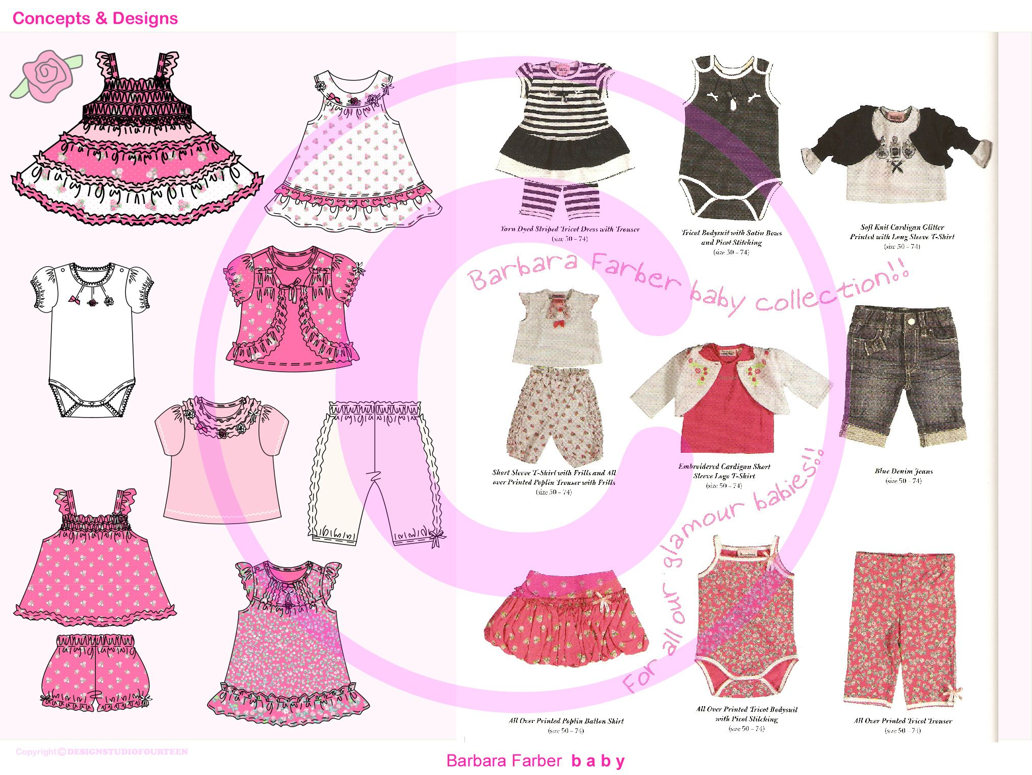 Designing styles & graphics for Baby Girls Summer Collection ...