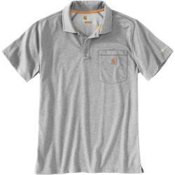 Carhartt Force Delmont Pocket Polo Shirt Grau Xl Carhartt