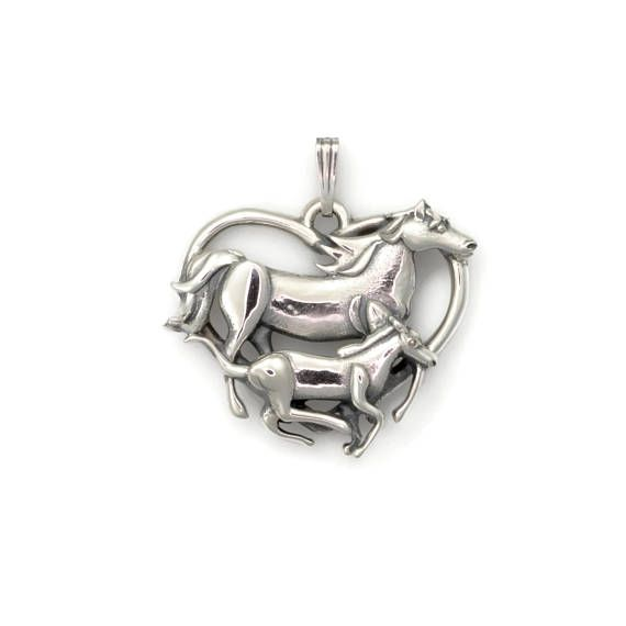 Sterling silver horse necklace silver horse pendant silver horse sterling silver horse necklace silver horse pendant silver aloadofball Gallery