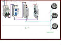 Esquemas eléctricos: reloj horario mas contactor