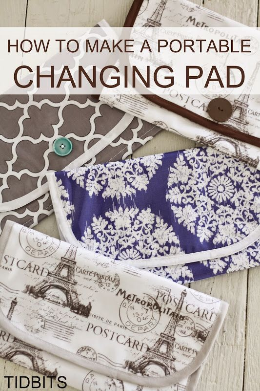 tidbits: How to Make a Portable Changing Pad for Baby   Baby baby ...