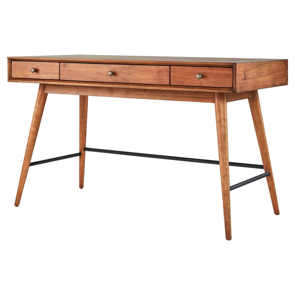 Foerster Mid Century Writing Desk - Warm Brown - Inspire Q