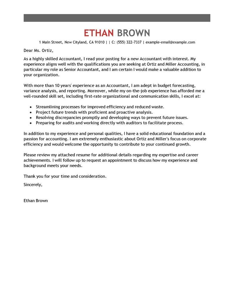 30 Cover Letter Template Word Resume Accounting Unique
