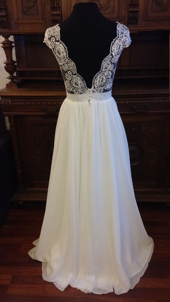 Verkauf Boho Vintage inspirierte Brautkleid mit Spitze Korsett ...