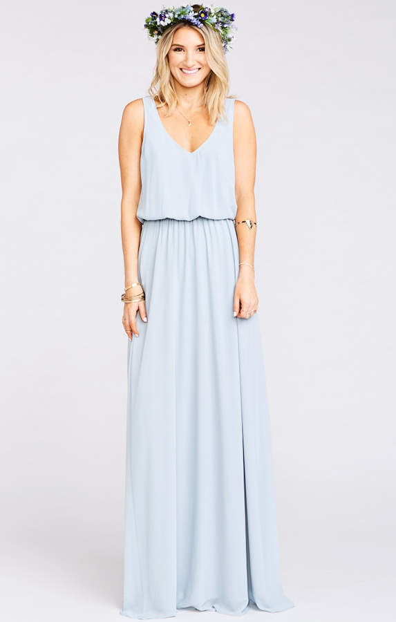 289cba5571 Show Me Your Mumu Kendall Maxi Dress ~ Steel Blue Chiffon