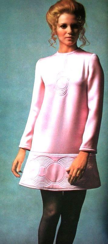 Louise Despointes is wearing a pink dress by Emanuel Ungaro, photo Guy Bourdin, Vogue Paris September 1969
