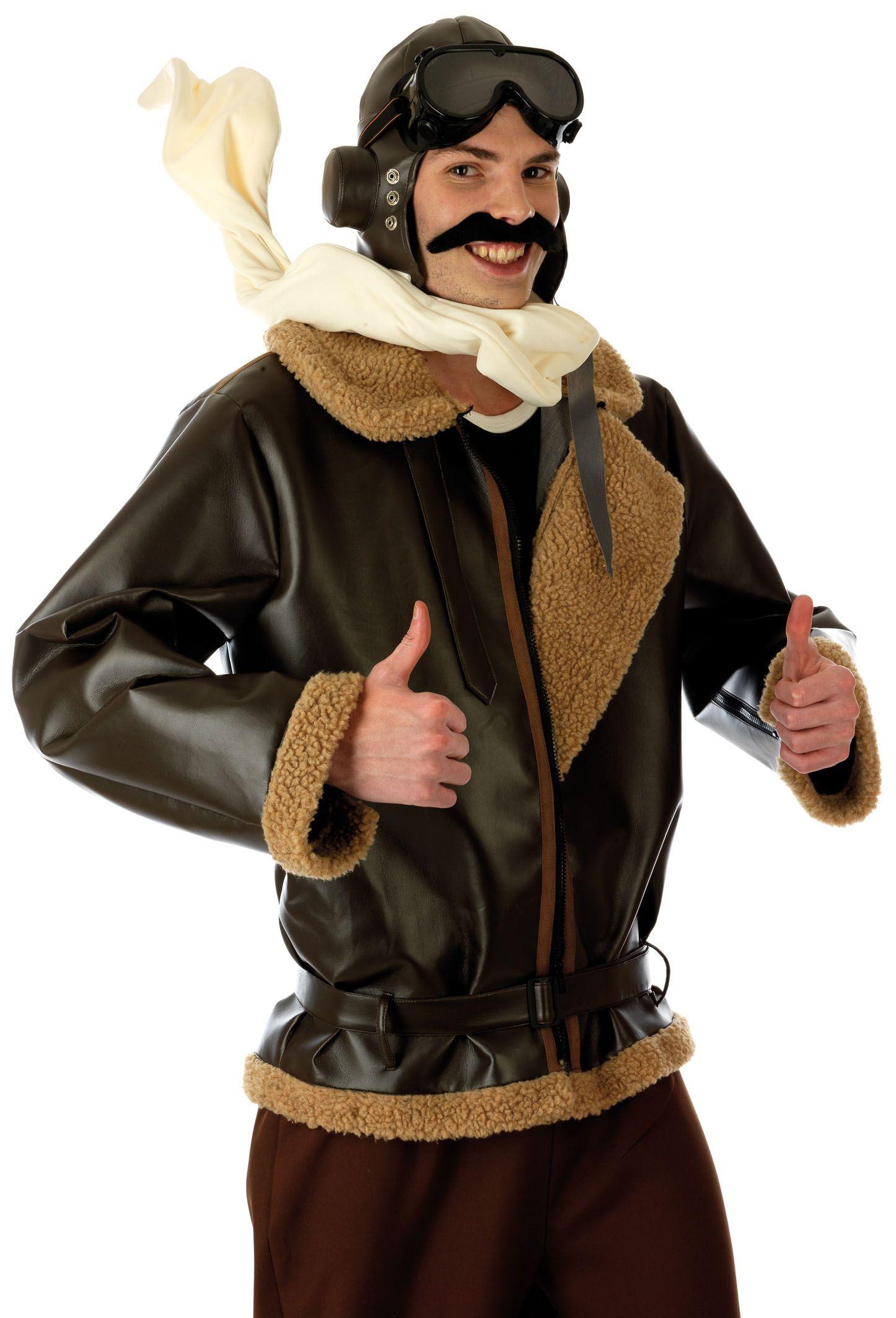 Details about Biggles WW2 War Fighter Pilot 1940s Mens Fancy Dress ...
