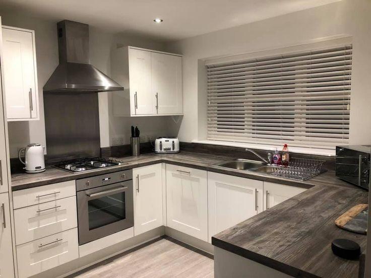 Faux wood blinds blinds kitchen