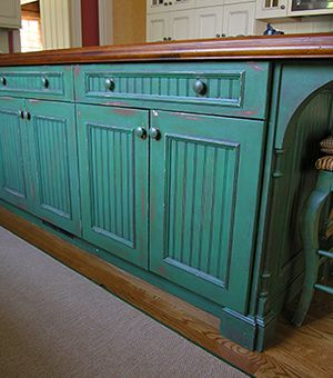 Turquoise Dresser Re-Do | Distressed cabinets, Distressed ...