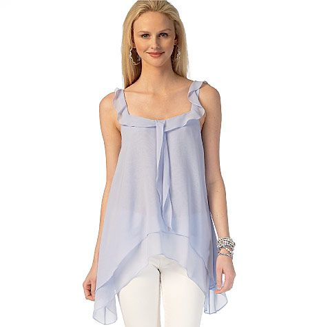 Floaty, breezy tunic top sewing pattern from McCall\'s. Handkerchief ...