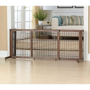 Top Paw 174 Adjustable Stand Alone Pet Gate Dog Houses