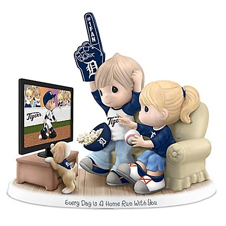 Precious Moments Every Day Is A Home Run With You - Detroit Tigers Figurine