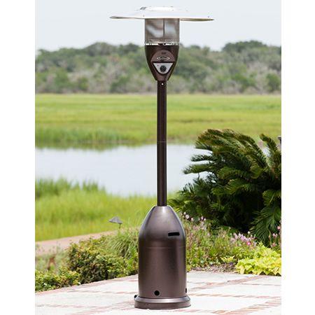 Fire Sense Deluxe Patio Heater Hammer Tone Bronze Fire Sense