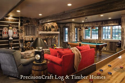 Custom Design Hybrid Log & Timber Home | Family game rooms, Game ...
