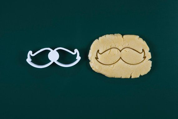 Moustache Barman Style cookie cutter 3d printed by Readyshapes