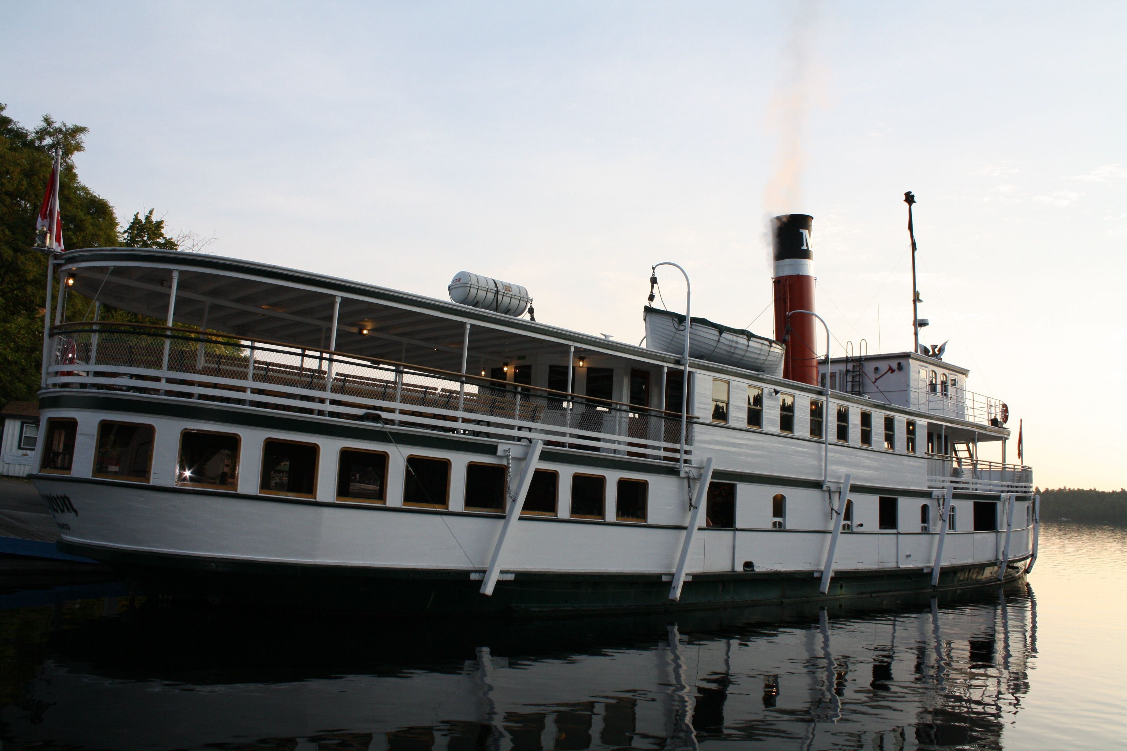 the Sequin begins to awaken from an overnight stay in Port, ready for a mid summer excursion on beautiful Lake Rosseau, my heritage, and the highly coveted and impressive 3rd lake in the chain: the awe inspiring and stunning Lake Joseph