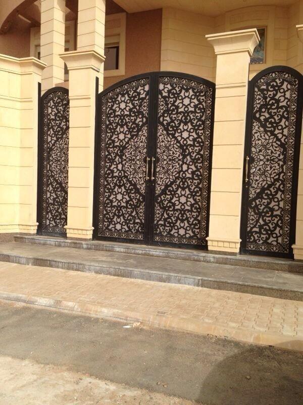 شركة تعمير السعودية On Twitter Main Gate Design Metal Doors Exterior Door Gate Design