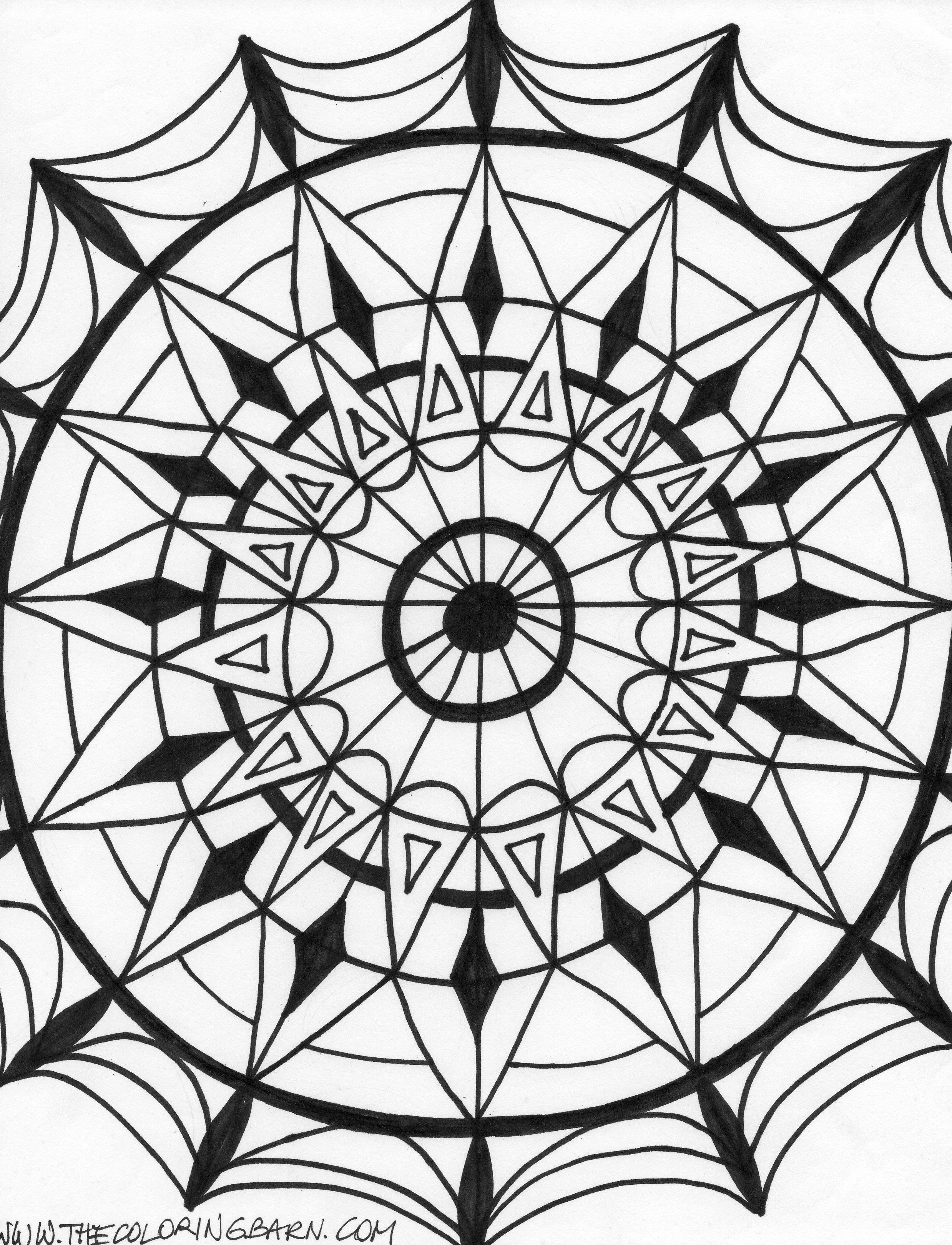 Printable Kaleidoscope Patterns | Kaleidoscope Coloring Pages ...