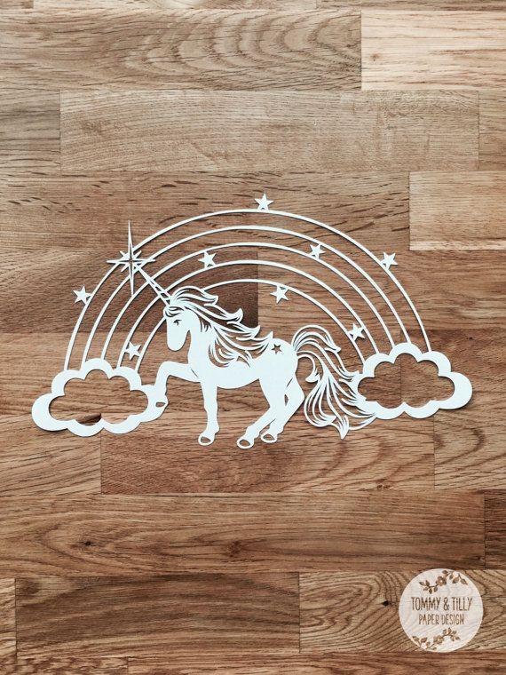 Unicorn Rainbow Papercut Template Machine Cut Cricut