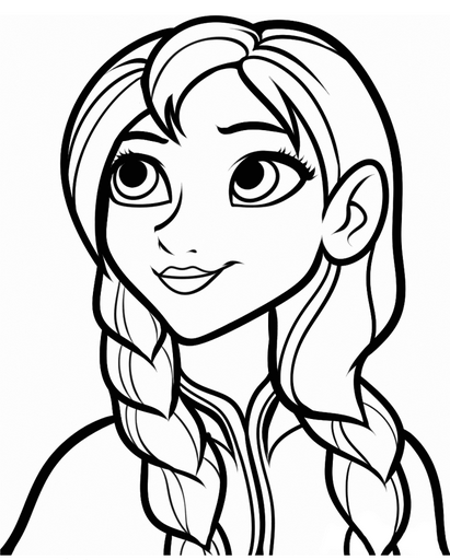 Printable Frozen Anna Coloring Page