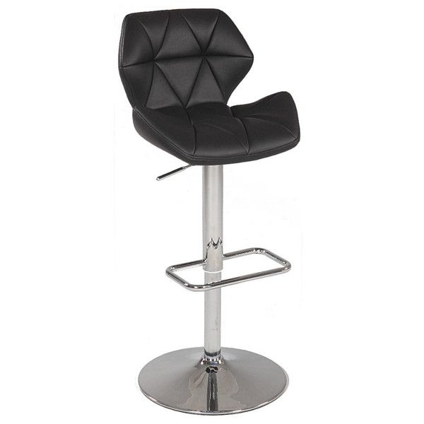 Fine Chintaly Pneumatic Gas Lift Swivel Height Stool 0645 As Blk Evergreenethics Interior Chair Design Evergreenethicsorg