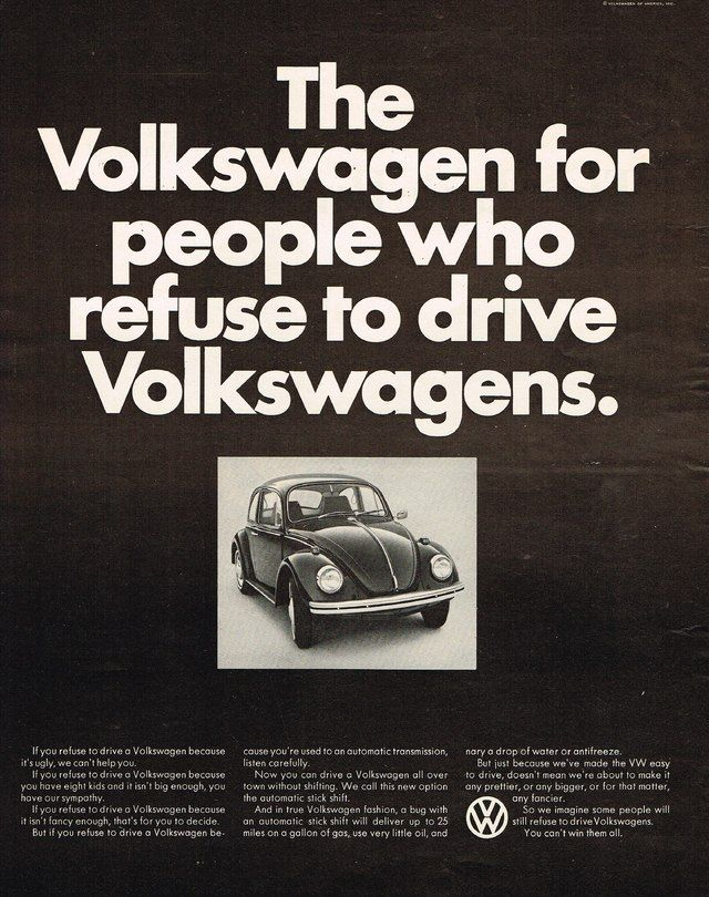 Volkswagen Beetle Automatic Stick Shift Ad Photo Picture | Old ...