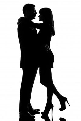 Kissing Silhouette Images To Print Silhouette Couple Well