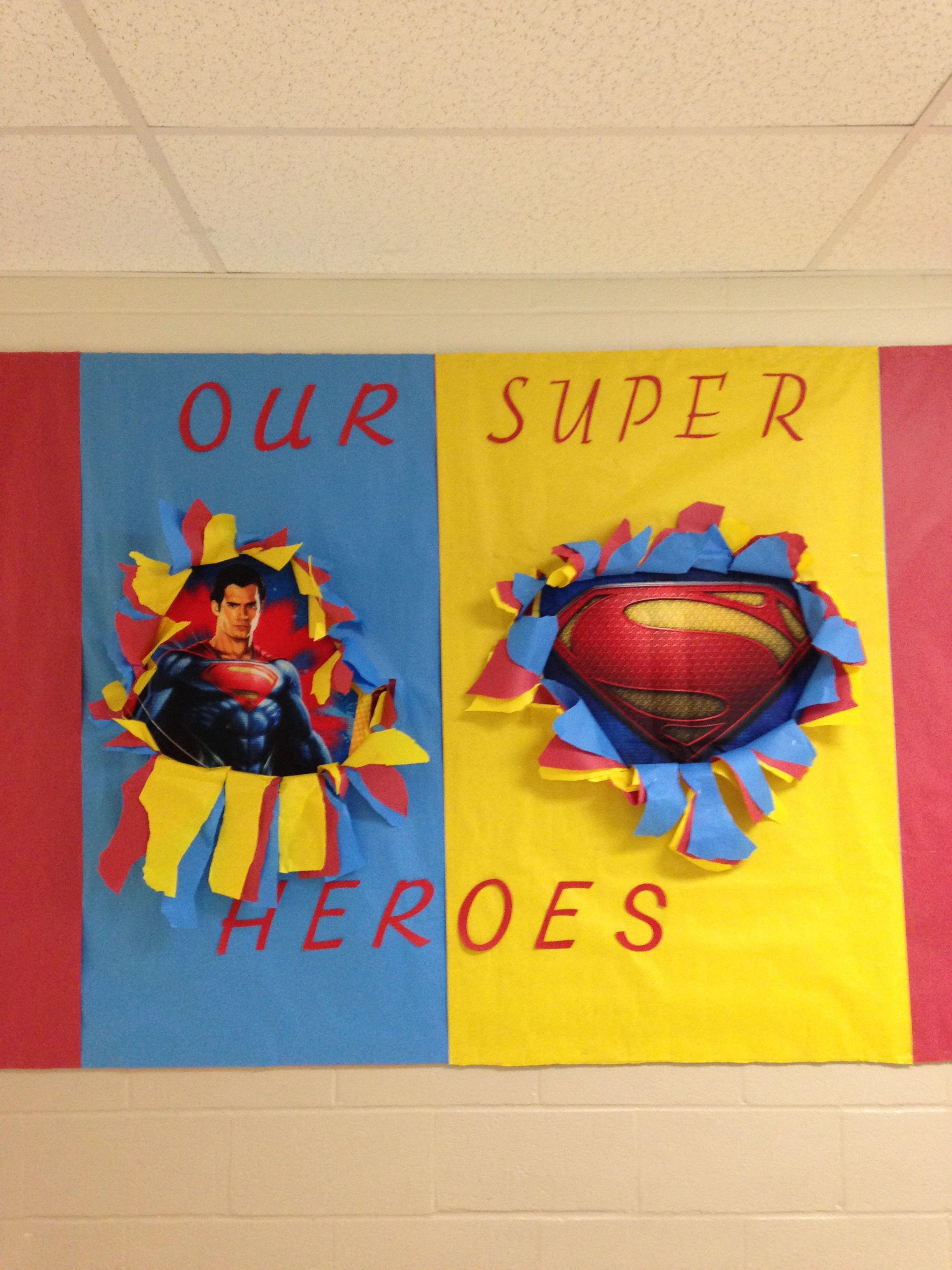 Superheroes Bulletin Board Superman Classroom
