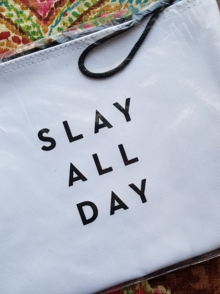 Milly Slay All Day Fab Fit Fun Zip Cosmetic Pouch Clutch