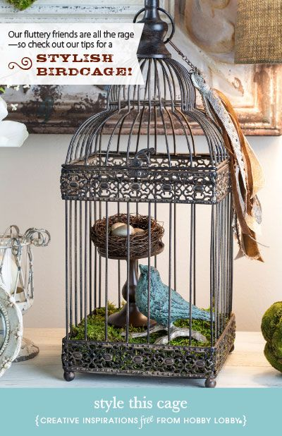 Bon Hobby Lobby Project   Style This Cage   Birdcage, Iron, Do It Yourself,