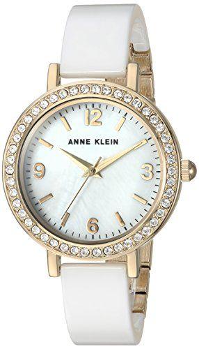 Anne Klein Women s Quartz Metal and Ceramic Dress Watch, Color White  (Model  AK 2348WTDB) - Anne Klein Women s Quartz Metal and Ceramic Dress  Watch, ... 52c777feb1