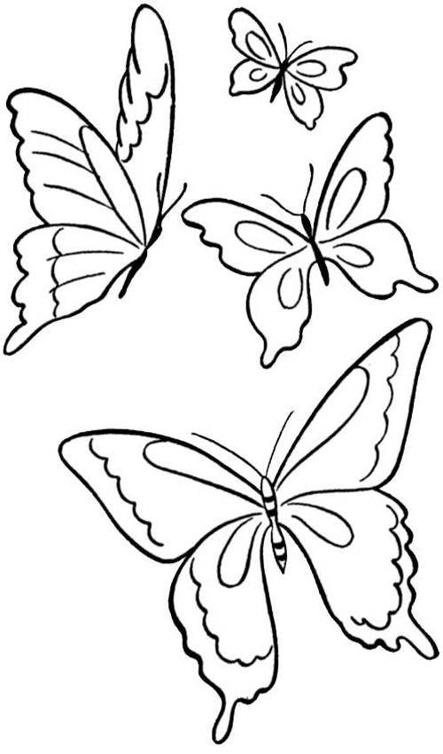 four butterfly printable coloring pages Things to Create