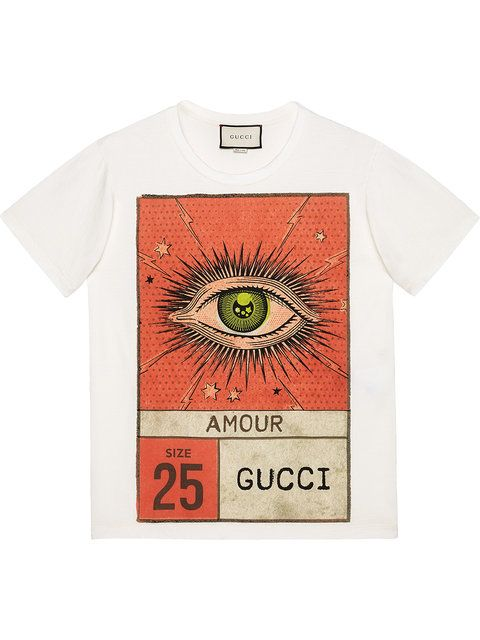 91d6c85a Gucci Amour eye print T-shirt | graphic tee | Mens printed shirts ...