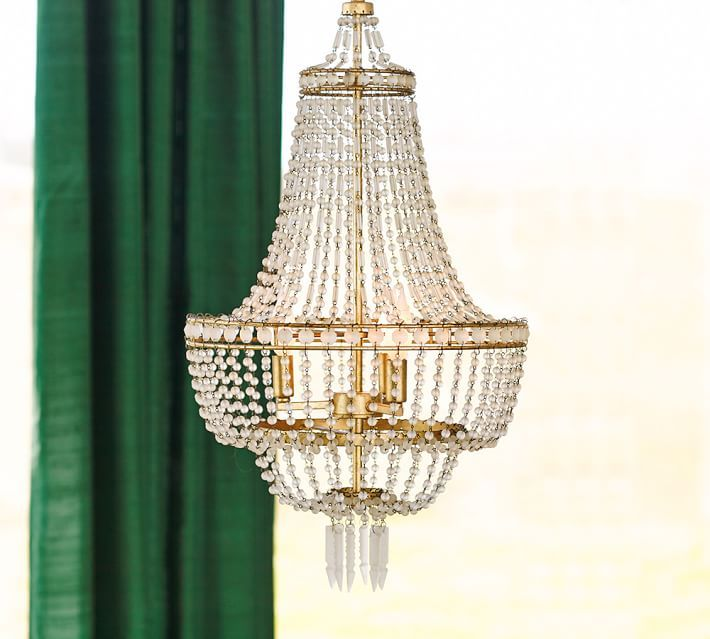 Taryn Chandelier, Gold & Frosted Glass | Chandeliers, Pottery and Barn