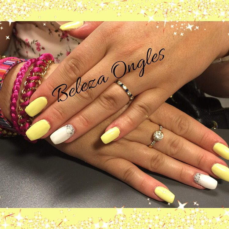 Gel ongles jaune