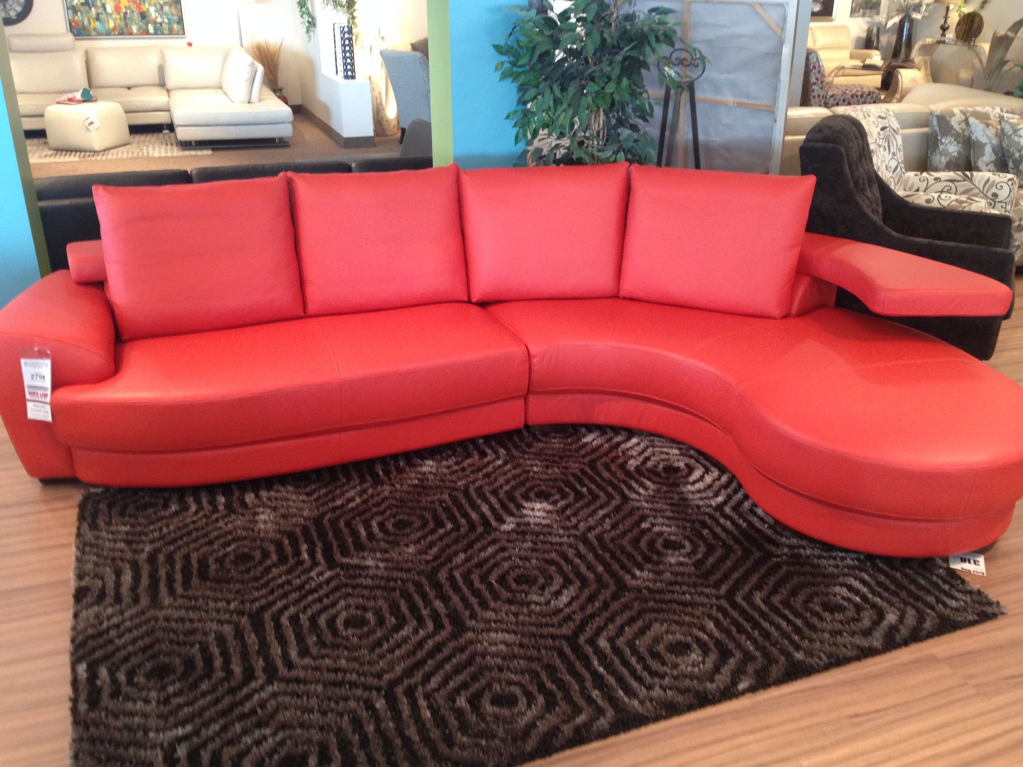 The Ashlynn Sectional just arrived at Sofa Land This leather