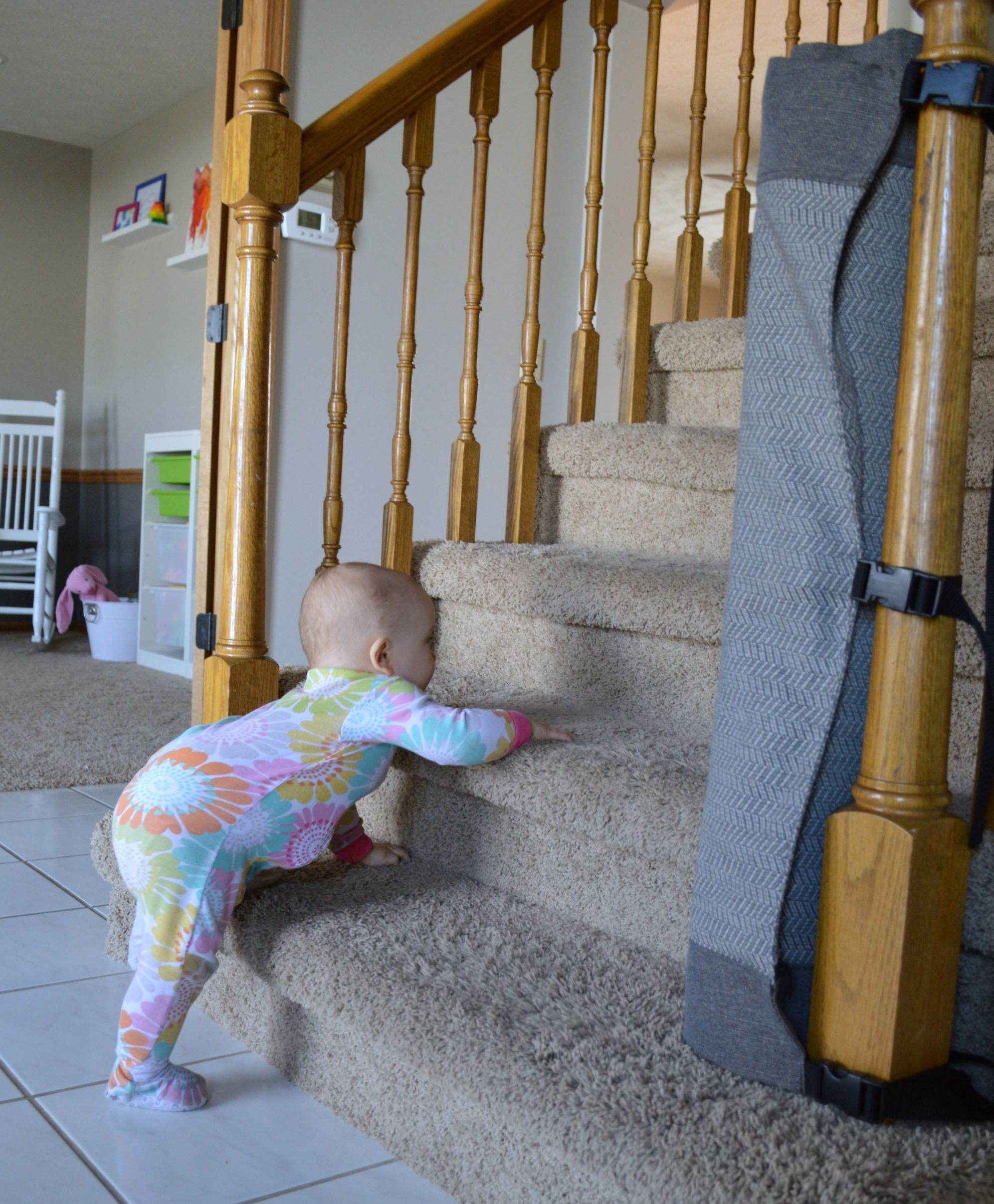 Captivating A Stylish New Way For Baby Proofing Stairs