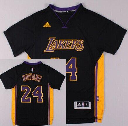 f3ab562377cc Los Angeles Lakers  24 Kobe Bryant Revolution 30 Swingman 2014 New Black  With Purple Jersey