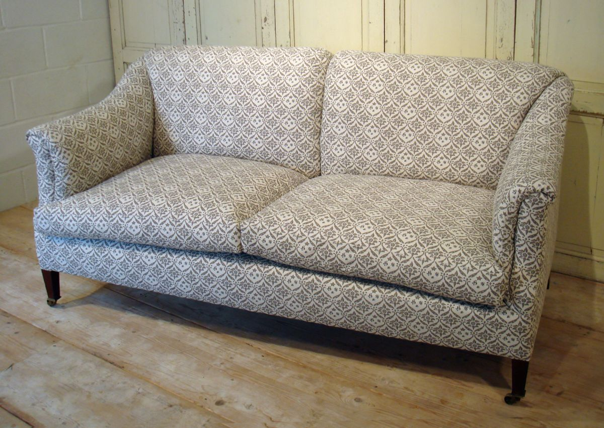 19th Century Howard Sons Beckett Sofa Stock Dean Antiques Ltd Core One Fulham London Furniture Furnishings Interior