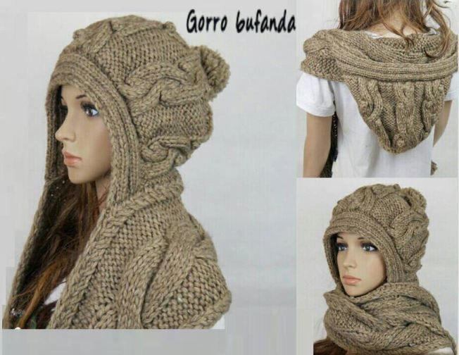 Gorro bufanda tejida | Crochet, Scarves and Knit hats