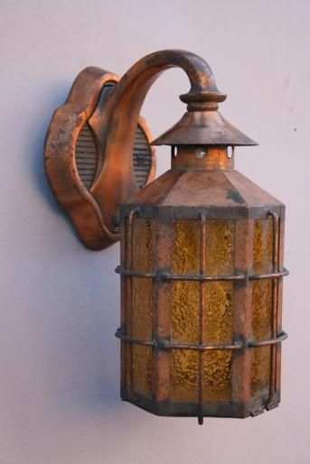Exterior 1920s Wall Mounted Sconces, Antique Outdoor Lighting, Antique And  Spanish Revival