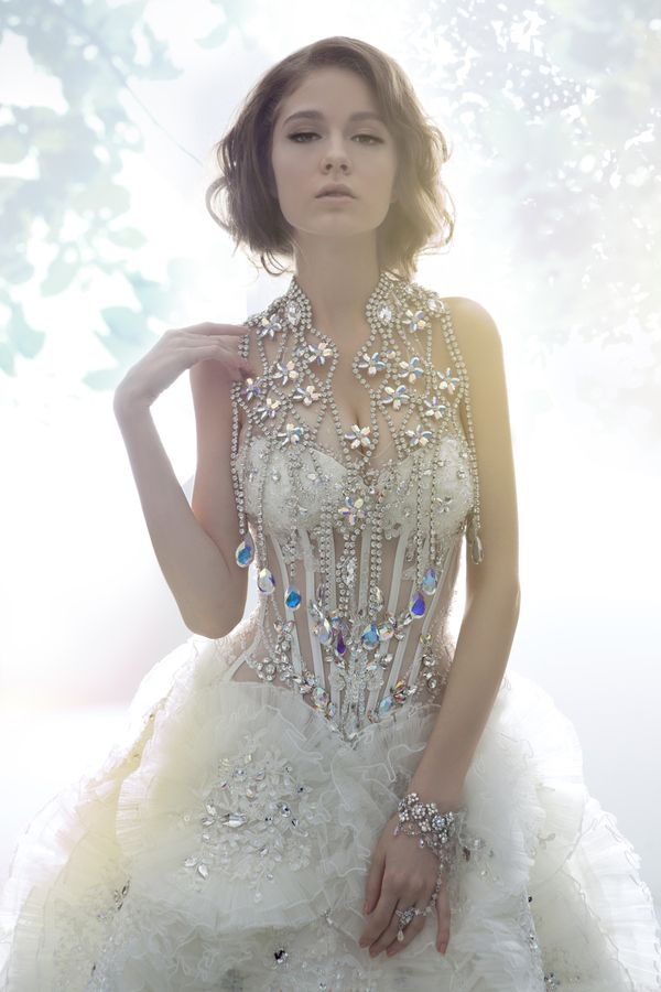 luxurious crystal wedding dresses on behance | 4. fabulous wedding