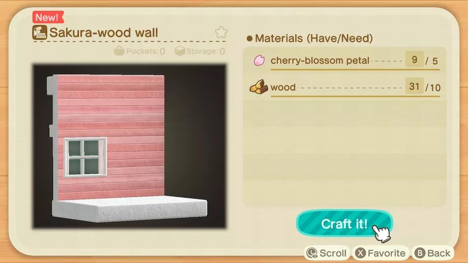 Animal Crossing New Horizons Switch Cherry Blossom Recipe List Polygon Animal Crossing Cherry Blossom Petals Cherry Blossom