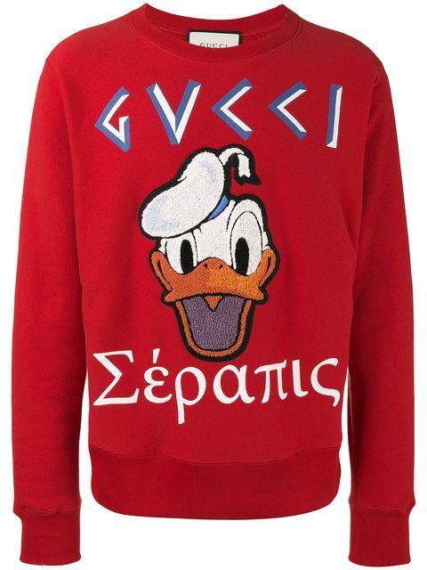 24aa426c Gucci Donald Duck applique sweatshirt | disney in 2019 - Gucci mens ...